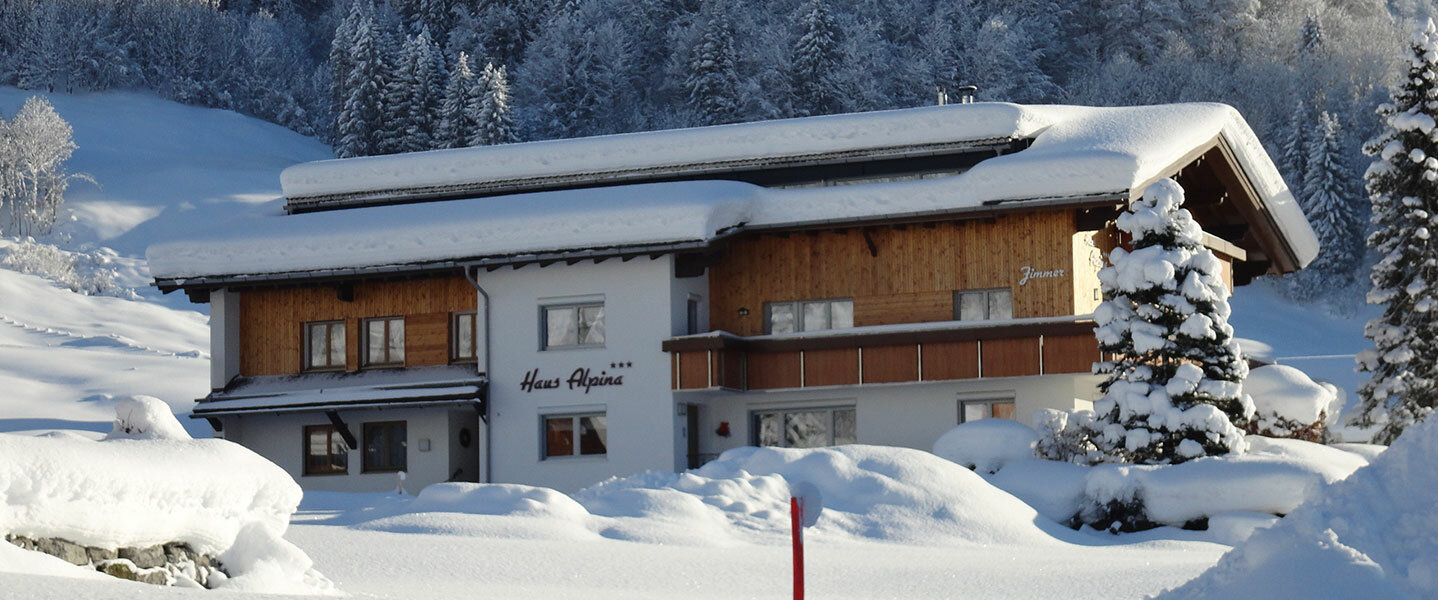 Haus Alpina im Winter